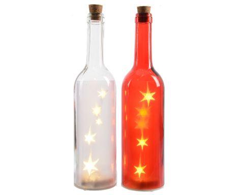 Lumineo LED Fles Verlichting 30 cm - Verlichting binnen battterij - Ø 7 cm